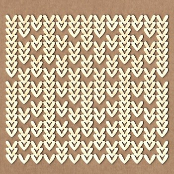 Chipboards - Knitting background /  12x11cm / 1ks