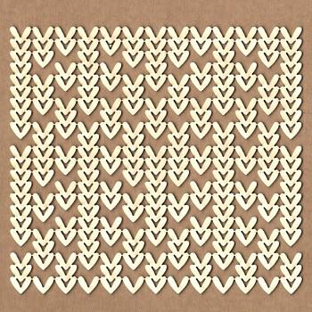 Chipboards - Knitting background /  12x11cm / 1ks