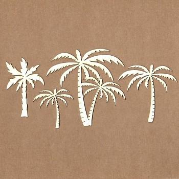 Chipboards - Palms /  6-11 cm / 4pcs