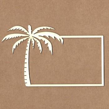 Chipboards - Rámček s palmou /  11,5cm / 1ks