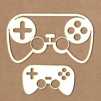 Chipboards - Gamepad / 10,5cm & 6,5cm / 2pcs