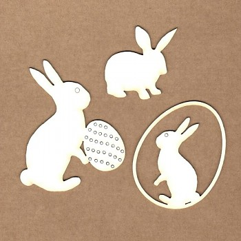 Chipboards - Easter bunnies / 4-7,5cm / 3ks
