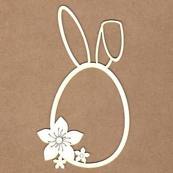 Chipboards - Easter bunny frame / 8.5x15 cm / 1ks