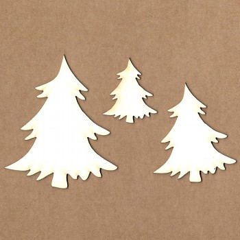 Chipboards - Christmas tree / 3ks