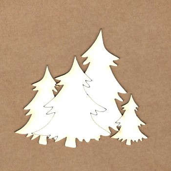 Chipboards - Christmas trees / 8.5 x 7.5 cm / 1ks