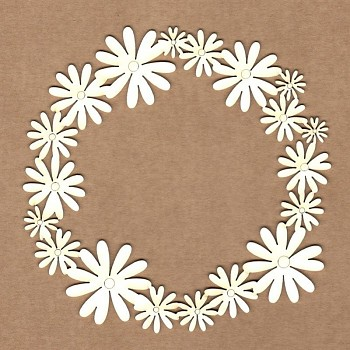 Chipboards - Daisies frame / 12cm / 1ks