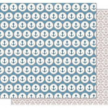 """Scrapbookový papier 12x12"""" / Comunión Niña - Anclas"""