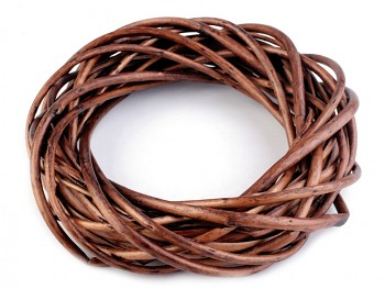 Wicker Wreath / 25cm / dark brown