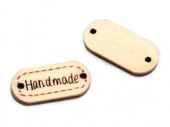 Holzschild HAND MADE / 11x23 mm / 5 St.