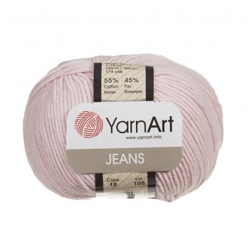 Yarn Jeans (Gina) / 50g / light pink 18
