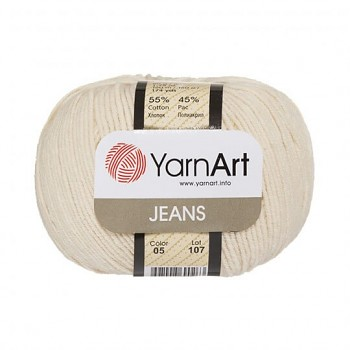 Yarn Jeans (Gina) / 50g / cream 05