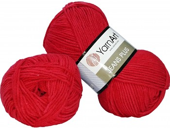 Yarn Jeans plus / Gina plus / 100g / red 51
