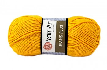 Yarn Jeans plus / Gina plus / 100g / yellow 35