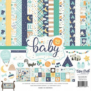 Hello Baby Boy 12x12 / Collection Kit