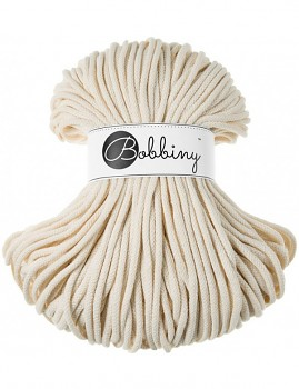 Bobbiny Cotton Cord Premium 5mm / 100m / Natural