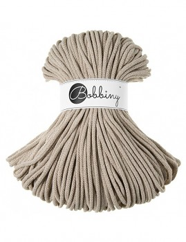 Bobbiny Cotton Cord Premium 5mm / 100m / Beige