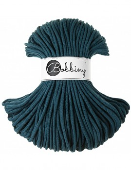 Bobbiny Cotton Cord Premium 5mm / 100m / Peacock blue