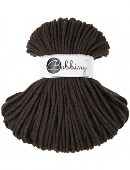 Bobbiny Cotton Cord Premium 5mm / 100m / Chocolate