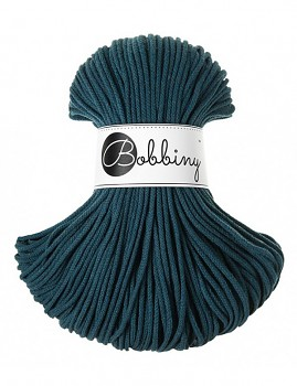 Bobbiny Cotton Cord Junior 3mm / 100m / Peacock blue
