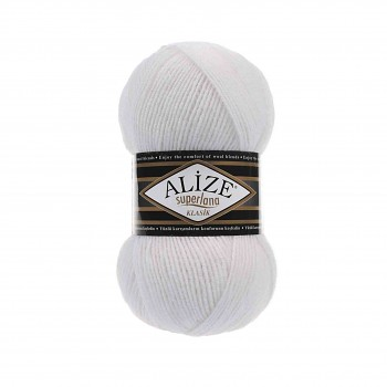 Yarn Superlana Klasik / 100g / White 55