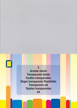 Acetate Sheets A4 / 5St.