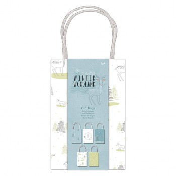 Winter Woodland Gift Bags / 5szt