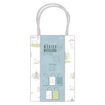 Malá darčeková taška - Winter Woodland Gift Bags / 5ks