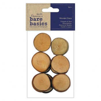 Wooden Discs / 28mm / 16pcs