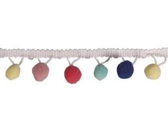Wstążka pom-pom 3cm / 2m / pastel