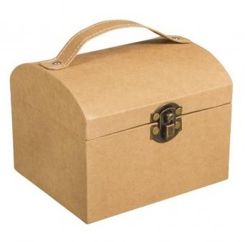 Kufrík z papier maché / 13x11x10cm