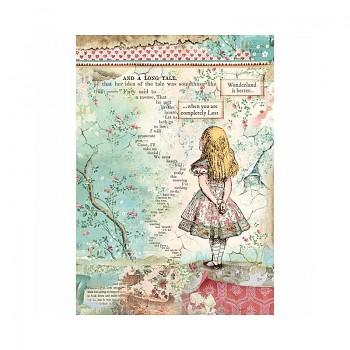 Ryžový papier na decoupage A4 / Alice
