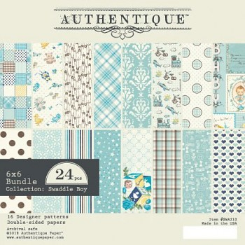Authentique Swaddle Boy / 6x6 / Sada papierov