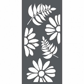 Šablóna / 12x25cm / Flowers and leaves