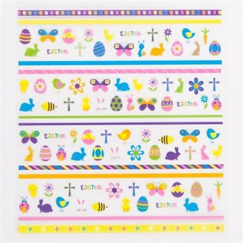 Stickers / Easter egg / 96pcs