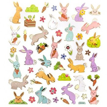Stickers / Bunnies 2 / 48pcs