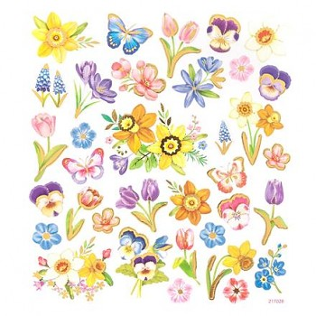 Stickers / Flowers / 35pcs