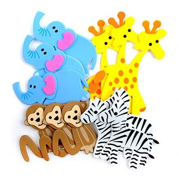Foam Stickers - Safari / 12pcs