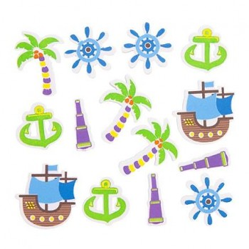 Foam Stickers - PIRATE WORLD / 50pcs