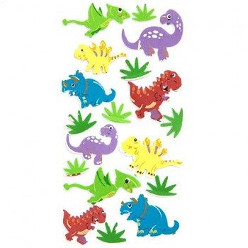 Foam Stickers - DINOS / 18pcs