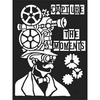 Thick stencil / 15x20cm / Capture the moment