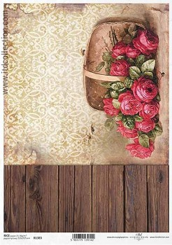 Rice decoupage paper A4 / ITD R1383