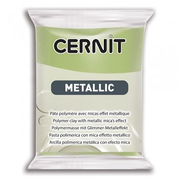 Cernit Metallic / 56g / green gold / 051