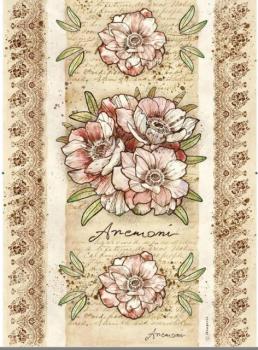 Ryžový papier na decoupage A3 / Flowers by Donatella Anemone