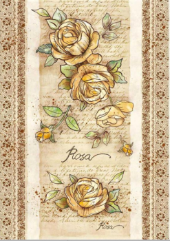 Papier ryżowy decoupage A3 / Flowers by Donatella Rose