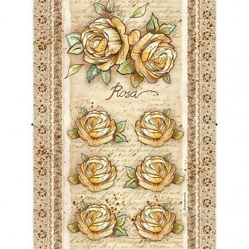 Rice decoupage paper A4 / Roses and Flowers by Donatella Rose
