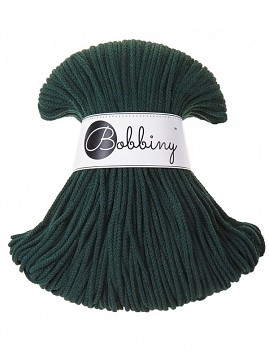 Bobbiny Cotton Cord Junior 3mm / 100m / Forest green