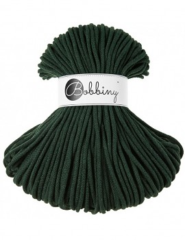 Bobbiny Cotton Cord Premium 5mm / 100m / Forest green