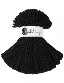Bobbiny Cotton Cord Premium 5mm / 100m / Black