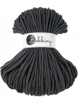 Bobbiny Cotton Cord Premium 5mm / 100m / Charcoal