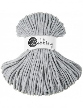 Bobbiny Cotton Cord Premium 5mm / 100m / Light Grey